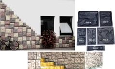 Beton Gießformen Satz Für Wandverkleidung-schieferstruktur 320 /gips 6 Stück