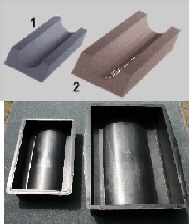 Molds for gutters