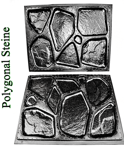 1 pair of molds for polygonal stones